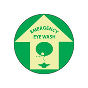 Glow Floor Sign - Emergency Eye Wash