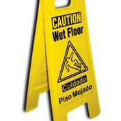 Heavy Duty Floor Stand - Caution Wet Floor - Bilingual