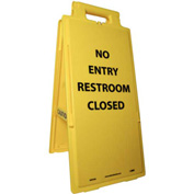 Heavy Duty Floor Stand - No Entry Restroom Closed
