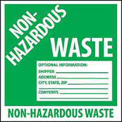 Hazardous Waste Vinyl Labels - Non-Hazardous Waste