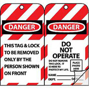 Jumbo Self-Laminating Lockout Tags - Danger Do Not Operate