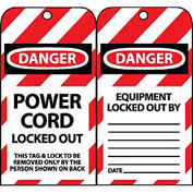 Lockout Tags - Power Cord Locked Out