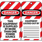 Lockout Tags - This Equipment Is Supplied By More Than One Power Source