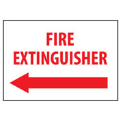 Fire Safety Sign - Fire Extinguisher with Left Arrow - Plastic