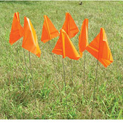 Marking Flags - Orange Glow