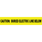 """Non-Detectable Underground Warning Tape - Caution Buried Electric Below - 3""""W"""