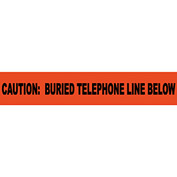 "Non-Detectable Underground Warning Tape - Caution Buried Telephone Line - 6""W"