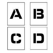 "Individual Character Stencil 12"" - Letter Set A-Z"