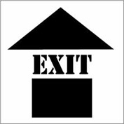 Plant Marking Stencil 20x20 - Exit w/ Up Arrow