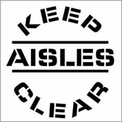 Plant Marking Stencil 20x20 - Keep Aisle Clear