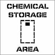 Plant Marking Stencil 20x20 - Chemical Storage Area