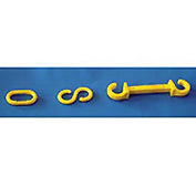 "Connecting S-Hooks - 1-1/2"" Yellow"