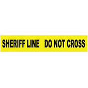 Printed Barricade Tape - Sheriff Line Do Not Cross