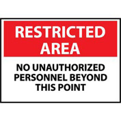 Restricted Area Aluminum - No Unauthorized Personnel Beyond This Point