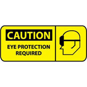 Pictorial OSHA Sign - Plastic - Caution Eye Protection Required