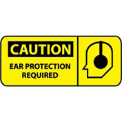 Pictorial OSHA Sign - Vinyl - Caution Ear Protection Required