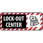 Pictorial OSHA Sign - Vinyl - Lock Out Center