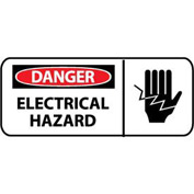 Pictorial OSHA Sign - Vinyl - Danger Electrical Hazard