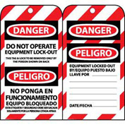 Bilingual Lockout Tags - Do Not Operate Equipment Lock-Out