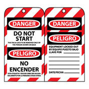 Bilingual Lockout Tags - Do Not Start