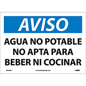 Spanish Vinyl Sign - Aviso Agua No Potable No Apta Para Beber Ni Cocinar