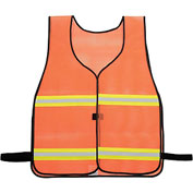 NMC SV5 Safety Vest, Orange with Silver and Lime Reflective Stripes, One Size Fits All