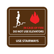 Pan-A-Vue Sign - In Case Of Fire Do Not Use Elevators Use Stairways