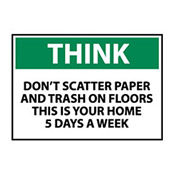 Think Osha 10x14 Vinyl - Don't Scatter Paper
