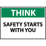 Think Osha 10x14 Plastic - Safety Starts With You