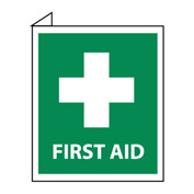 Facility Flange Sign - First Aid
