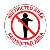 Walk On Floor Sign - Restricted Area