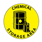 Walk On Floor Sign - Chemical Storage Area