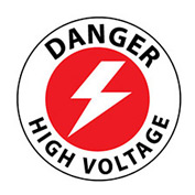 Walk On Floor Sign - Danger High Voltage