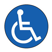Walk On Floor Sign - Handicapped Symbol