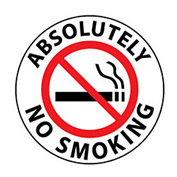 Walk On Floor Sign - Absolutely No Smoking