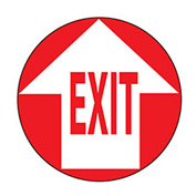 Walk On Floor Sign - Exit