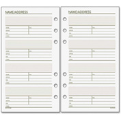 "DayRunner® Undated Phone/Address Planner Page Refill 3/16"" x 3-13/16"" x 6-13/16"" White, Cream"