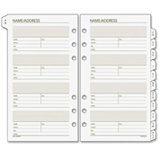"DayRunner® Telephone/Address A-Z Planner Tab 3/16"" x 4-3/16"" x 6-13/16"" White"
