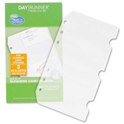 "DayRunner® Side-loading Planner Credit Card Holder 1/8"" x 4"" x 7"" Clear"