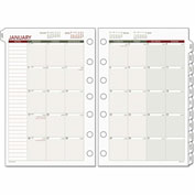 Day Runner® Monthly Planning Pages, 5 1/2 x 8 1/2, 2017