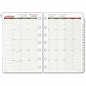 Day Runner® Monthly Planning Pages, 8 1/2 x 11, 2016-2017