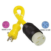 Conntek EV14400T NEMA 5-15P to NEMA 14-50R Electric Vehicle Pigtail Adapter Cord