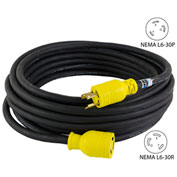 Conntek RUL630PR-025 NEMA L6-30 Locking All Weather Cord Set, 25'
