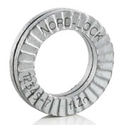 "Nord-Lock 2670 Wedge Locking Washer - Carbon Steel - Zinc Flake Coated - 1/4"" - Pkg of 200"