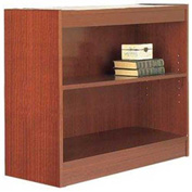 "36"" Laminate Bookcase, Mahogany w/Steel Reinforced 1"" Shelves"