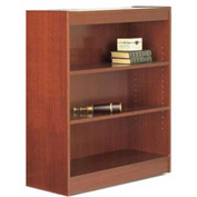 "48"" Laminate Bookcase, Mahogany w/Steel Reinforced 1"" Shelves"