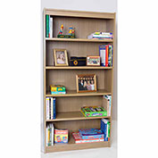 "72""H Laminate Bookcase w/Steel Reinforced 1"" Shelves, Natural Maple"