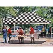10x15 Straight Leg Pop Up Canopy - Checkered Flag Cover