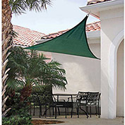 ShelterLogic, 25725, ShadeLogic Sun Shade Sail Heavy Weight Triangle 16 ft. x 16 ft. Evergreen