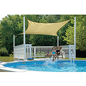 ShelterLogic, 25732, ShadeLogic Sun Shade Sail Square 16 ft. x 16 ft. Sand